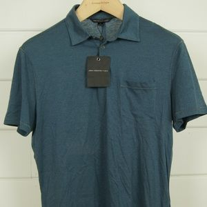 NWT John Varvatos SS Polo Shirt Dusted Blue M